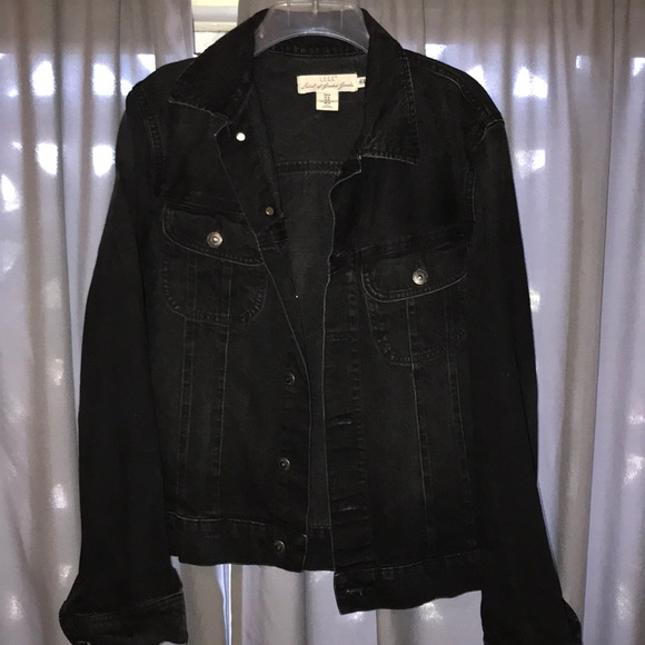 H M Jackets Coats Vintage Style Black Jean Jacket Men Size